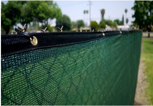 Wind Protection Privacy Fence Netting With Chain Link Knitted High Density Polyethylene